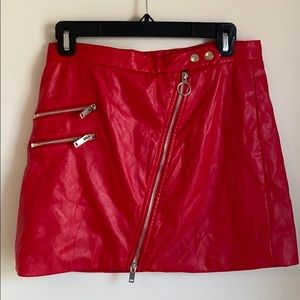Forever21 Red Leather Skirt
